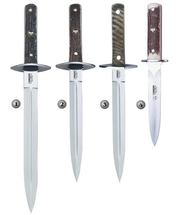 Cuchillo-daga con funda de cuero