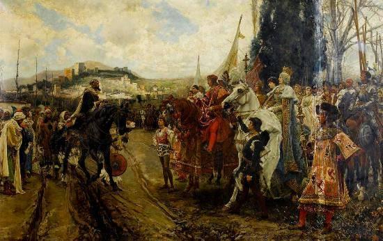Capitulaci�n de Granada ante los Reyes Cat�licos