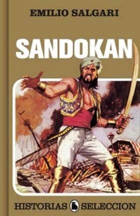 Ilustración de Sandokan con espada cimitarra en mano