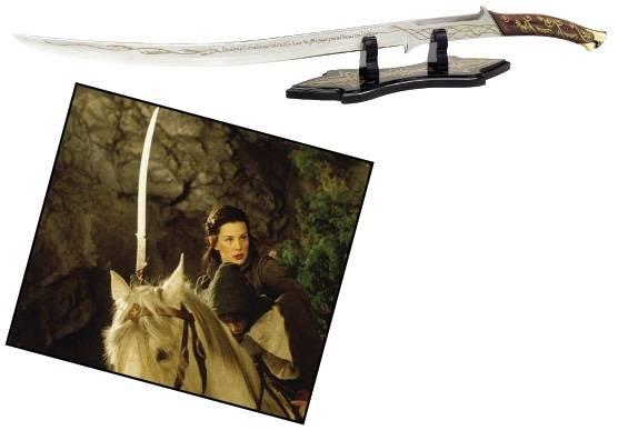 La espada Hadhafang, es utilizada por Arwen