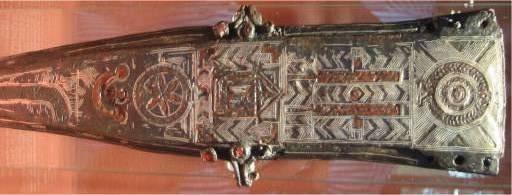 Vaina decorada de un puñal romano