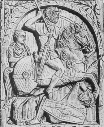 Representación de la spatha romana, la nueva espada de Roma