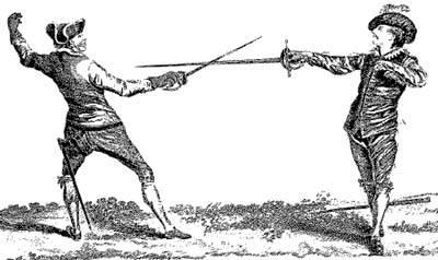 Duelo con espadas roperas