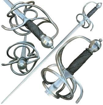 Espadas roperas con guarnición de lazo