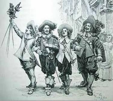 Los mosqueteros solían emplear la espada ropera