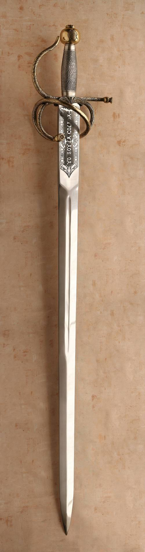 Espada Colada Acero Toledano