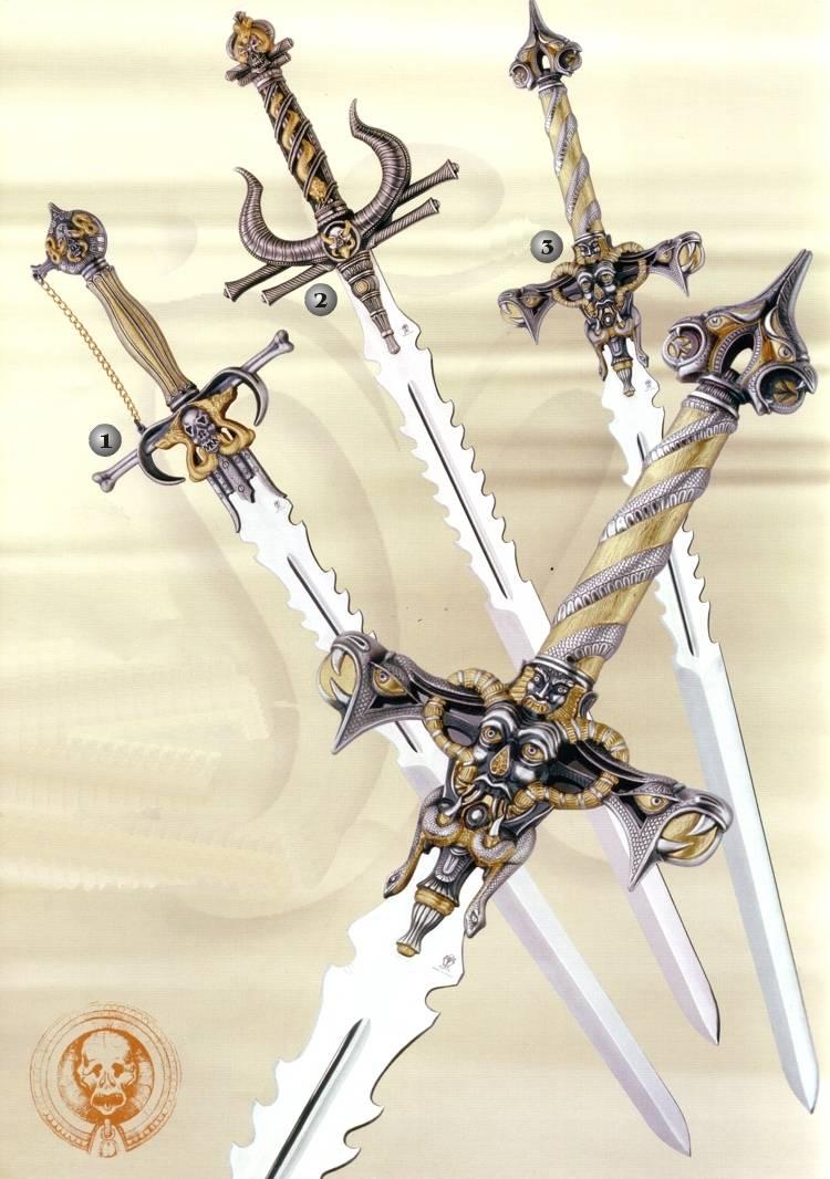 Espada �ngel de la Muerte, espada Guardi�n del Infierno y espada Od�n