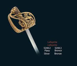 Mini sable Francés Marical Lafayette, en acabados plata y bronce