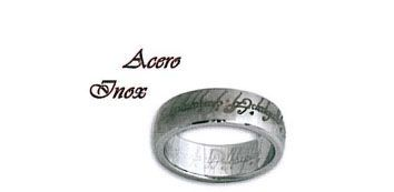 Anillo acero inoxidable de la peliculas el Señor de los anillos y el Hobbit.