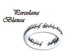 Anillo Porcelana blanca del Señor de los anillos y el Hobbit