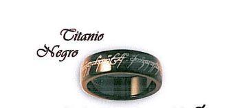 Anillo Titanio negro del Señor de los anillos y el Hobbit, en distintos tamaños
