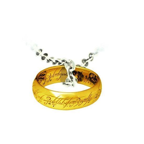 ColgaColgante de Frodo, anillo y cadena de la película el Señor de los Anillos y el Hobbit