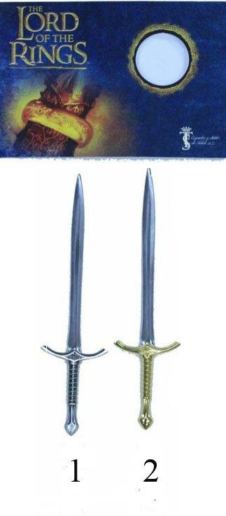 Mini espadas Glamdring del señor de los anillos, reproducción de la espada de Gandalf