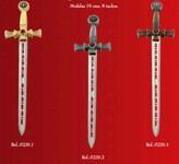 Mini espada templarios, abrecartas en forma de espada de los caballeros templarios.