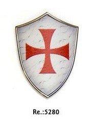 Escudo mini con Iman de la cruz templaria