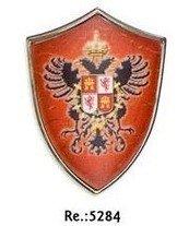 Escudo medieval mini con iman, de Carlos V