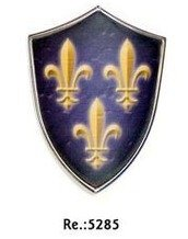 Escudo medieval mini con iman, de Carlomagno