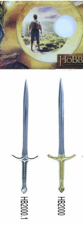 Espada mini Glandring del mago Gandalf, de la pelicula el hobbit