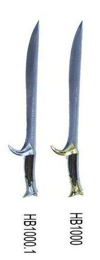 Mini espada Orcrist reproducción de la espada utilizada en la pelicula El Hobbit