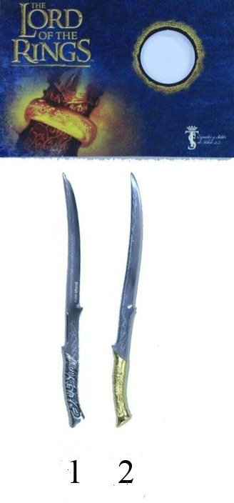 Espada mini Arwen, de la pelicula el señor de los anillos, espada llamada Handhanfang