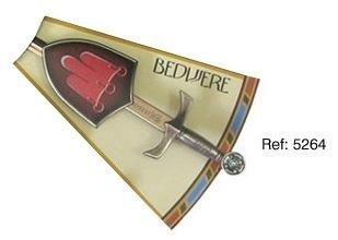Mini espada con mini escudo de Bedujere, de la serie de los caballeros de la mesa redonda