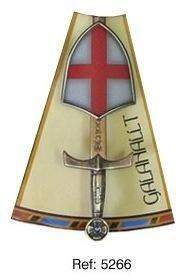 Mini espada con mini escudo de Galahallt, de la serie de los caballeros de la mesa redonda