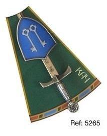 Mini espada con mini escudo de Kay, de la serie de los caballeros de la mesa redonda