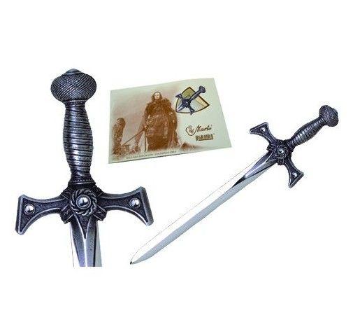 Mini espada Xena, en acabados  plata y bronce. De la serie television La Princesa Guerrera