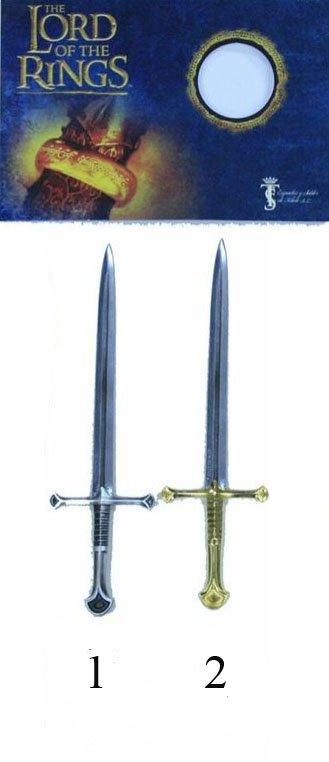 Mini espada Anduril, espada de Aragorn fabricada con los pedazos de la espada Narsil