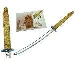 Mini espada Duncan, de la saga de los inmortales. Acabados  en plata, bronce y oro