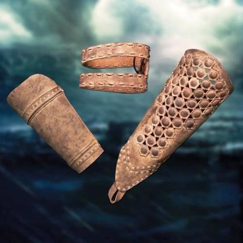 Protector brazo y banda Themistokles, de la película 300: el nacimiento de un imperio