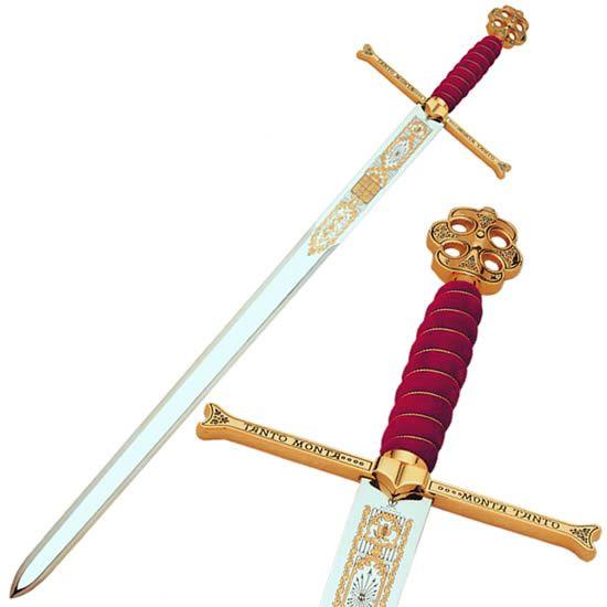 Espada reyes cat�licos damasquinada, con detalles en la empu�adura