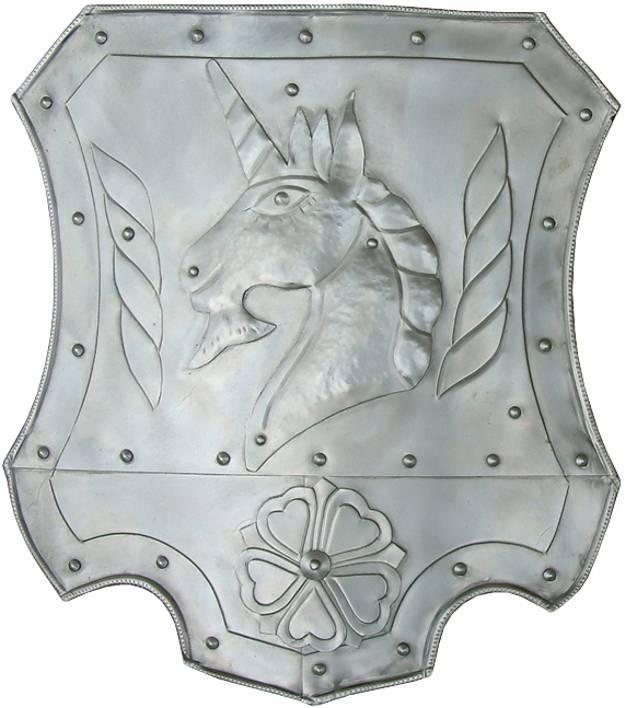 Escudos medievales.