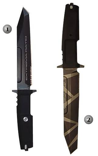 FULCRUM TESTUDO AND FULCRUM GEOCAMO EXTREMA RATIO SURVIVAL KNIVES