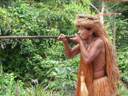 La cerbatana empleada hace miles de años se considera antecedente de las armas de aire