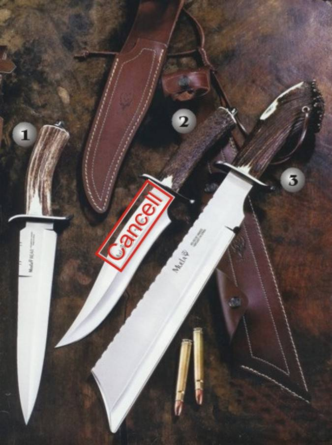 Muela impala, bear and sherpa knives