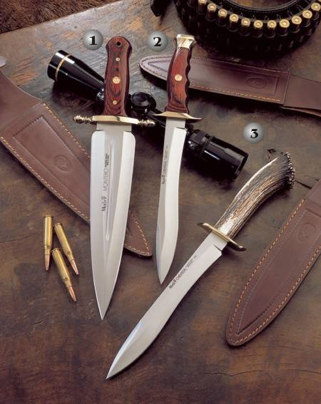 MONTERO 24 KNIFE, CHEVREUIL 22R KNIFE AND CHEVREUIL 22S