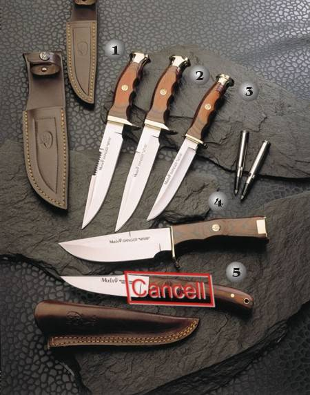 RANGER-14RS KNIFE, RANGER-14R KNIFE, RANGER-12 KNIFE, RANGER-13 KNIFE AND B-310 KNIFE