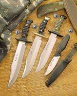 7221 KNIFE, 7220 KNIFE, 7222 KNIFE AND 205 KNIFE