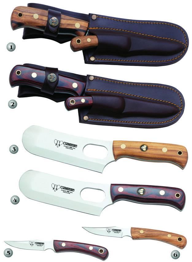 Machetas canguro de montería y cuchillos de montería con funda de cuero