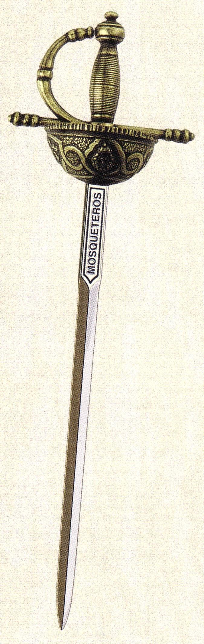 Mini espada Mosqueteros