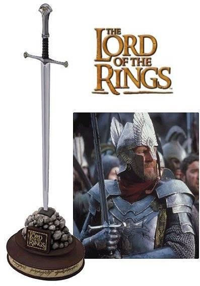 Miniatura de la espada Narsil de El Señor de los Anillos, puede utilizarse como abrecartas