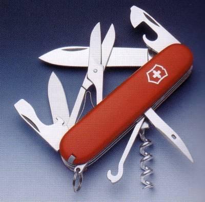 Navaja multiusos. Navaja suiza fabricada por Victorinox. Swiss army knife