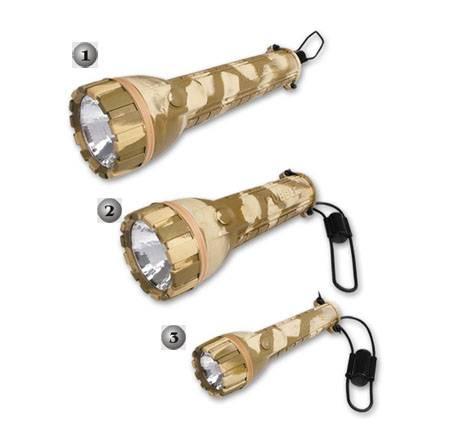 Linternas militares en 3 tamaños