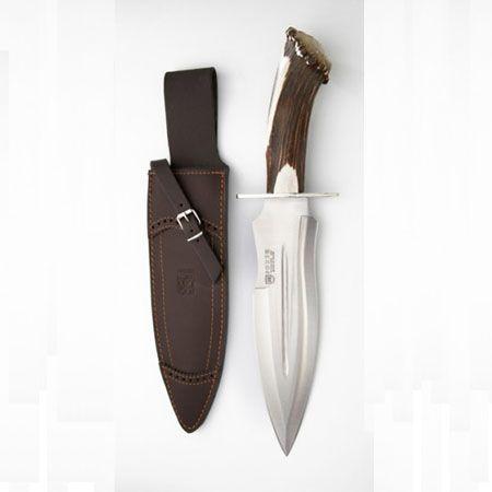 Cuchillo para caza mayor Joker CN42 con puño de asta de ciervo.