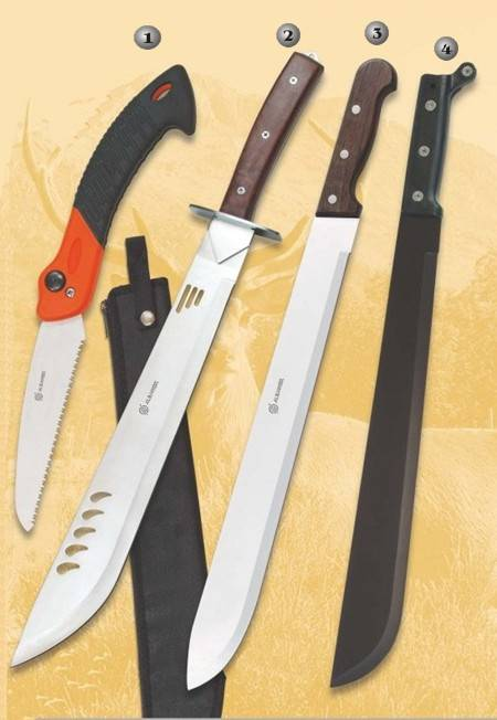 SPORT MACHETES AND HANDSAW.