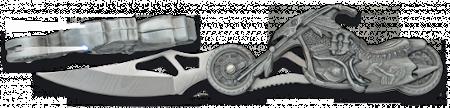 Navaja moto harley con linterna