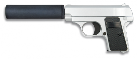PISTOLA AIRSOFT METÁLICA. CAL 6 MM