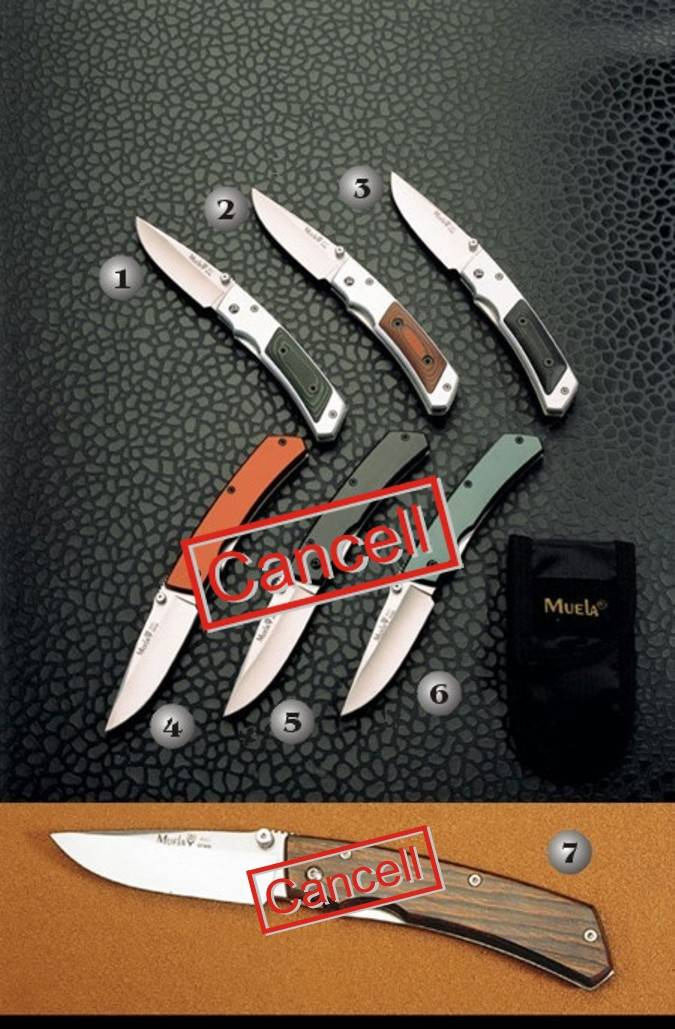 Muela aluminium pocket knives
