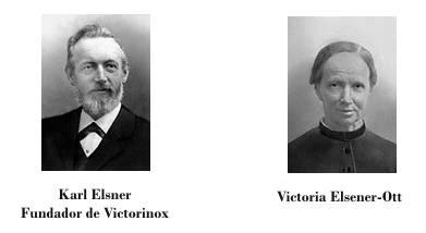 Karl Elsener y su madre Victoria, fundador de Victorinox